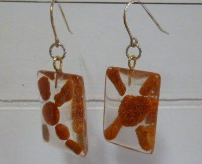Boucles d'oreilles CORAIL JAPONAIS